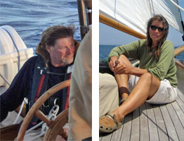 Nigel & Bonnie - Captains of the Schooner Yacht Heron